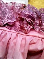 Pink Lace on Pink Cotton