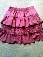 Pink Ruffled Skirt