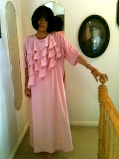 Mom Modeling Her Pink Dress